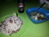 "Wir kochen Panamas Nationalgericht ""Sancocho"", arroz con frijoles, Cerveza Panama"