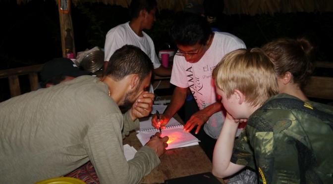 Actividades de conservacion planeado en la region Naso Tjerdi